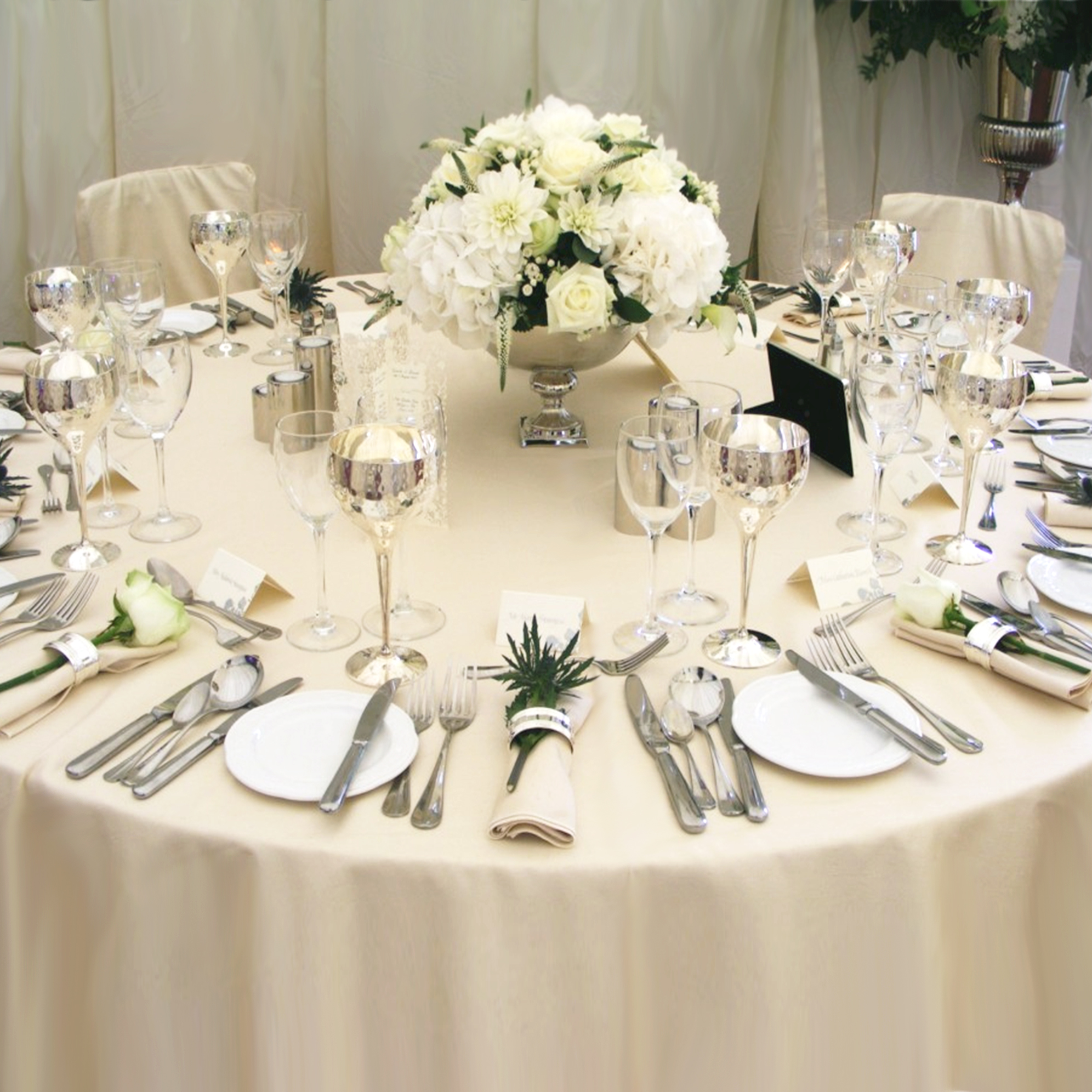 Damasc Plain Table Cloth