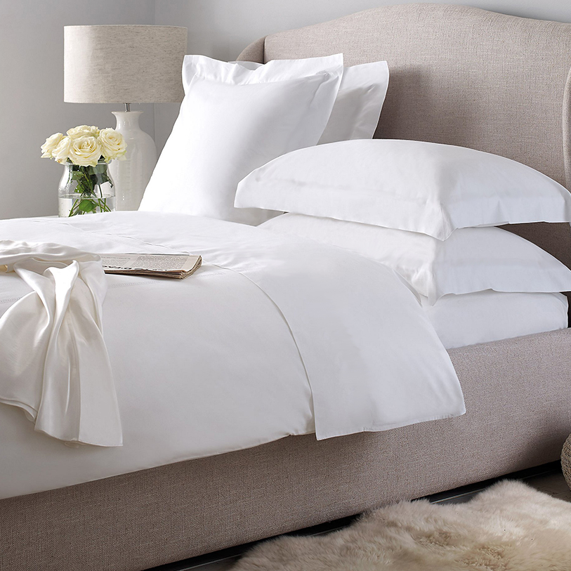 Exceptionnel Plain Satin Hotel Bed Linen